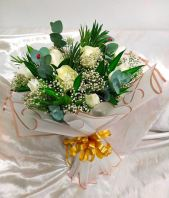 White Rose Bouquet HB 1085 floristkl