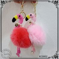Cute Fashion Flamingo Keychain Keyring Handbag Girl Gift Decorative KC0002