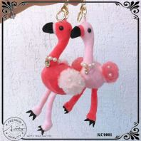 Cute Flamingo Keychain Keyring Handbag Girl Gift Decorative KC0001