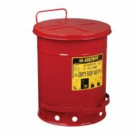 Oily Waste Can, 10 gallon (34L), foot-operated self-closing cover