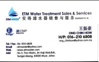 ETM WATER TREATMENT SALES & SERVICES