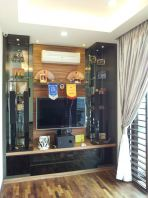Feature wall display cum T.v cabinet Design