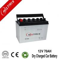 12V 70AH Dry Charged Auto Battery Factory