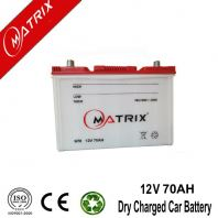 Auto Dry Charged Battery / 12v 70AH Lead Acid Batteries