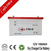 Rechargeable 12V 100AH Dry Charged Car Battery Eco Friendly