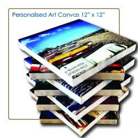 Art Canvas 1'x1', Canvas Murah, Cheap Canvas, Wood Frame Photo