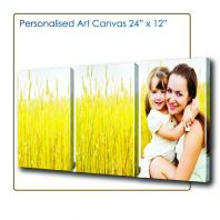 Art Canvas 2'x1', Canvas Murah, Cheap Canvas, Wood Frame Photo