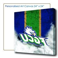 Art Canvas 2'x2', Canvas Murah, Cheap Canvas, Wood Frame Photo