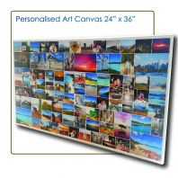 Art Canvas 2'x3', Canvas Murah, Cheap Canvas, Wood Frame Photo