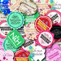 Diecut Sticker, Product Sticker, Sticker Kahwin, Wedding Sticker, cupcake sticker