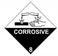 Class 8.0 Corrosive labels