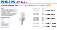 PHILI[S LED BULBS TRUEFORCE RANGE BULBS FOR HID & SON REPLACEMENTS