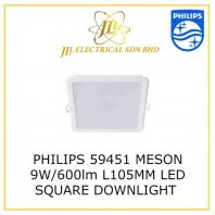 PHILIPS 59451 L105MM MESON LED 9W/600lm LED DOWNLIGHT WARM WHITE 3000K SQUARE