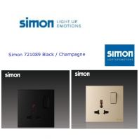 SIMON 721089 13A UNIVERSAL SWITCHED SOCKET OUTLET COLOR BLACK