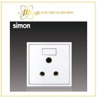 Simon Switch i7 701582-30 15A Round Pin Switch Socket Outlet Matt White