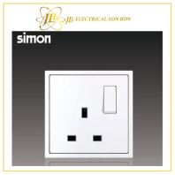 Simon Switch i7 701382-30 13A Flat Pin Switched Socket Outlet - Matt White