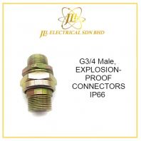 G3/4 MALE, EXPLOSION-PROOF CONNECTORS BHJ-C-G3/4 ExdII C T4 Gb;ExtD A20 IP66 CE19.3290