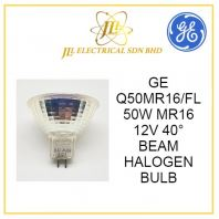 GE Q50MR16/FL 50W MR16 12V 40° BEAM HALOGEN BULB