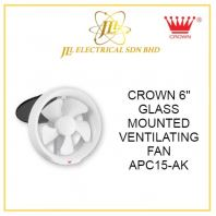 "CROWN 6"" GLASS MOUNTED VENTILATING FAN APC15-AK"