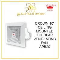 "CROWN 10"" CEILING MOUNTED TUBULAR VENTILATING FAN APB20"