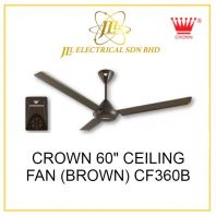 "CROWN 60"" CEILING FAN (BROWN) CF360B"