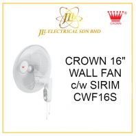 "CROWN 16"" WALL FAN c/w SIRIM CWF16S"