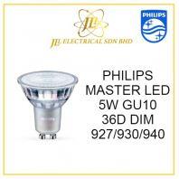 PHILIPS MASTER LED BULB 5W GU10 36D DIM 927/930/940