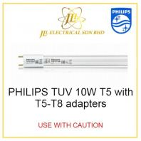 PHILIPS TUV 10W T5 with T5-T8 adapters