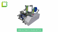 Semi automatic wraparound (round bottle) labelling machine (China)