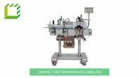 Compact Stepper Motor Belt Wraparound Labelling Machine (Taiwan)