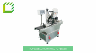 Top labelling machine with auto pouch feeder (China)