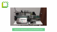 Desktop Pneumatic Roller Wraparound Labelling Machine (Taiwan)