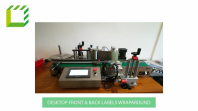 Desktop Front & Back Labels Wraparound Labelling Machine (Taiwan)