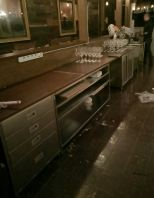 Stainless Steel Bar counter with wooden top