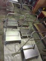 customize stainless steel production trolley