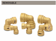 """ZoomLock Push Removable Elbow - 90 Degree (5/8"""")"""