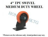 "4"" TPU SWIVEL MEDIUM DUTY WHEEL"