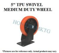 "5"" TPU SWIVEL MEDIUM DUTY WHEEL"