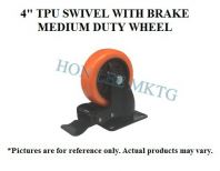 "4"" TPU SWIVEL WITH BRAKE MEDIUM DUTY WHEEL"