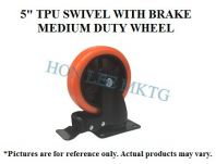 "5"" TPU SWIVEL WITH BRAKE MEDIUM DUTY WHEEL"