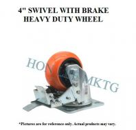 "4"" TPU SWIVEL WITH BRAKE HEAVY DUTY WHEEL"