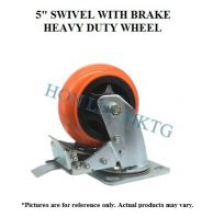 "5"" TPU SWIVEL WITH BRAKE HEAVY DUTY WHEEL"