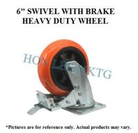 "6"" TPU SWIVEL WITH BRAKE HEAVY DUTY WHEEL"
