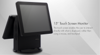 "15"" Dual Touch Screen Monitor"