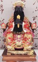 """16"""" 城隍爷(敦煌彩, 黑脸)"""