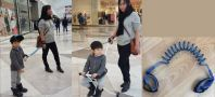 Portable Child Stroller 5-wheel + Child Arm Guard