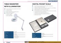Table Magnifier With Illumination & Digital Pocket Scale