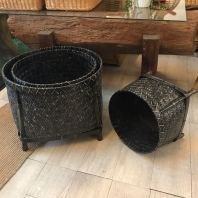 BAMBOO BASKET WITH LEGS