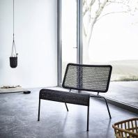 RATTAN + METAL LOUNGE CHAIR JACOB
