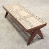 WOODEN CHANDIGARH BENCH (WITH RATTAN NETTING)